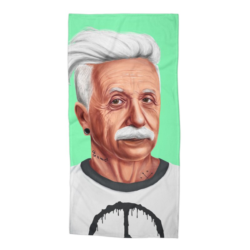 Albert Einstein Accessories Beach Towel by shimoni's Artist Shop