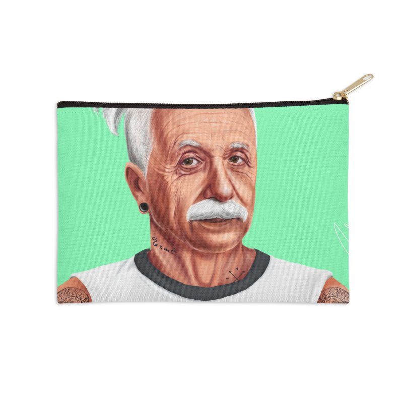 Albert Einstein Accessories Zip Pouch by shimoni's Artist Shop