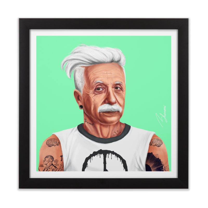 Albert Einstein Home Framed Fine Art Print by shimoni's Artist Shop