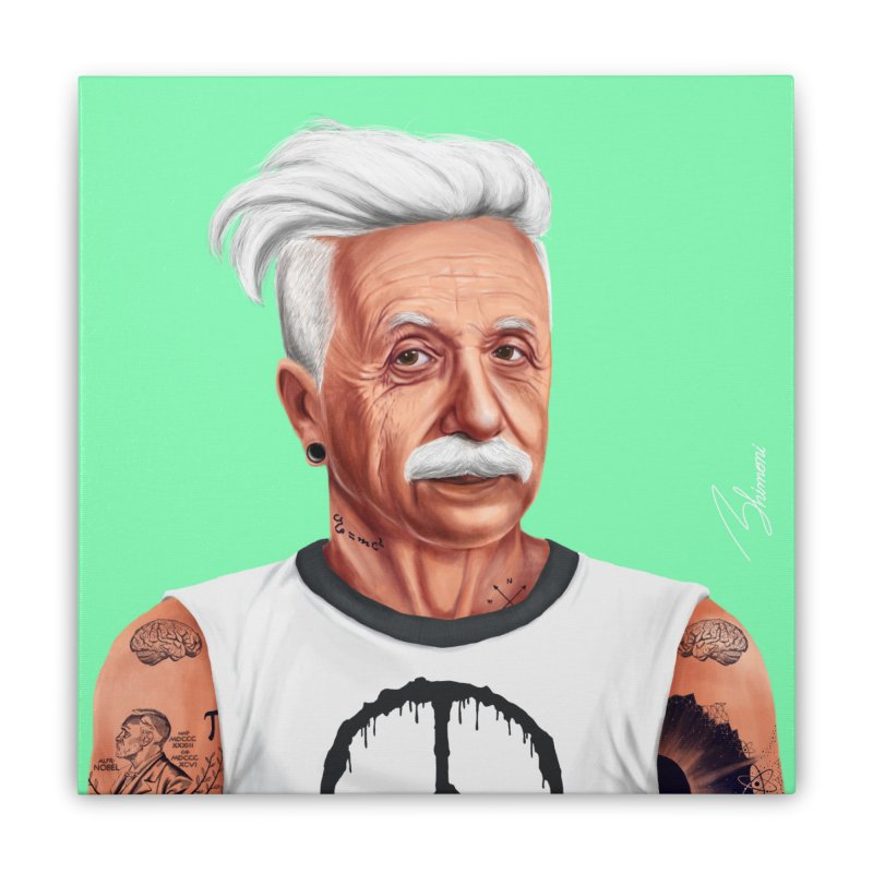 Albert Einstein Home Stretched Canvas by shimoni's Artist Shop