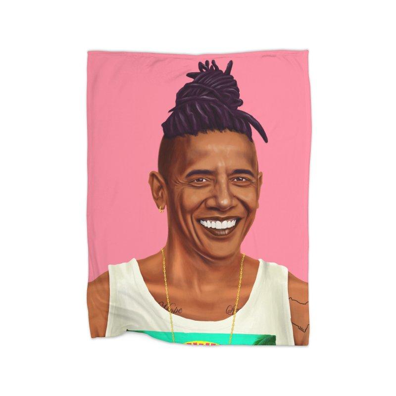 Barack Obama Home Blanket by shimoni's Artist Shop