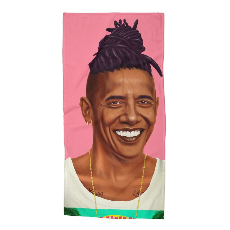 Barack Obama Accessories Beach Towel by shimoni's Artist Shop