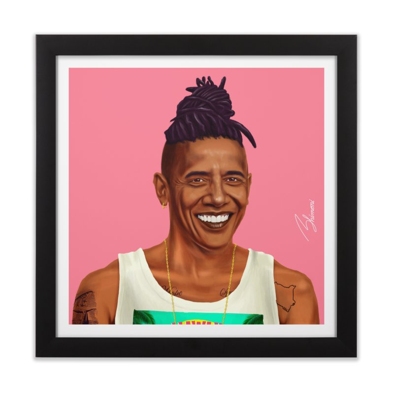 Barack Obama Home Framed Fine Art Print by shimoni's Artist Shop