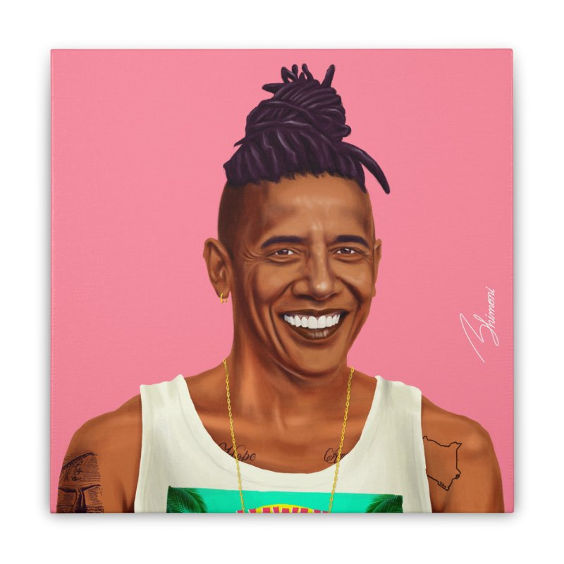 Barack Obama Home Stretched Canvas by shimoni's Artist Shop