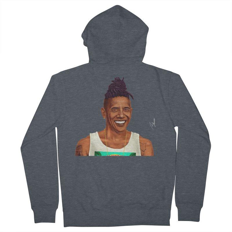 Barack Obama Men's Zip-Up Hoody by shimoni's Artist Shop
