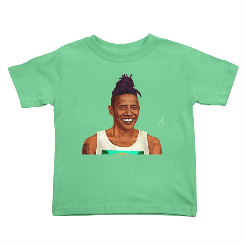 Barack Obama Kids Toddler T-Shirt by shimoni's Artist Shop