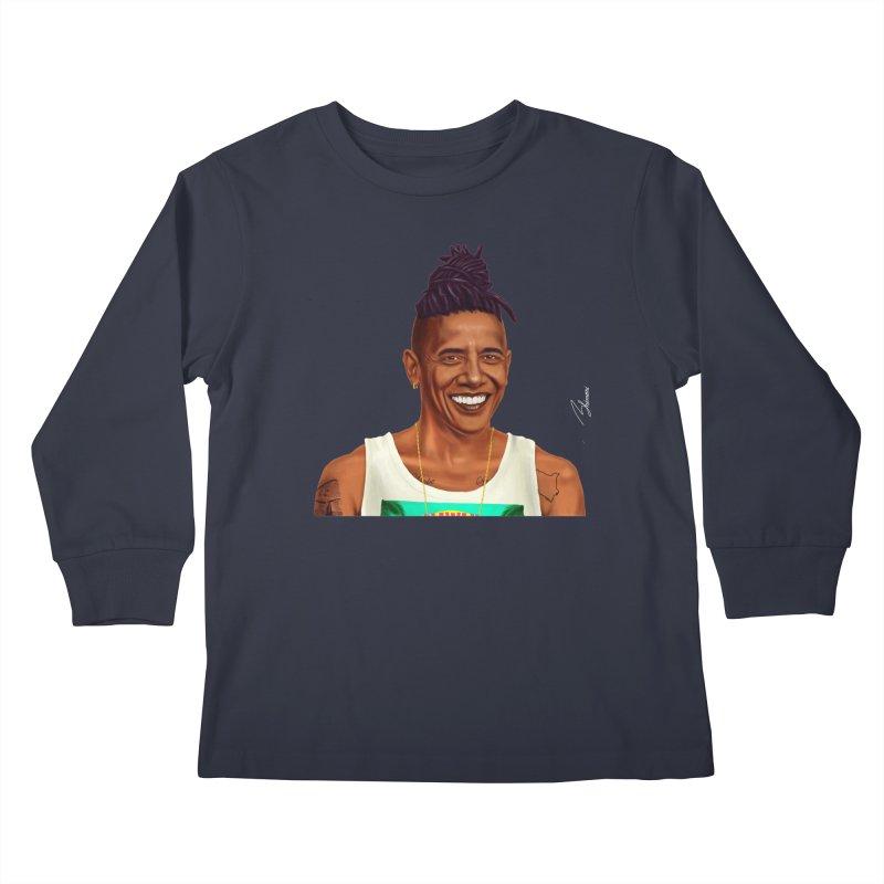Barack Obama Kids Longsleeve T-Shirt by shimoni's Artist Shop