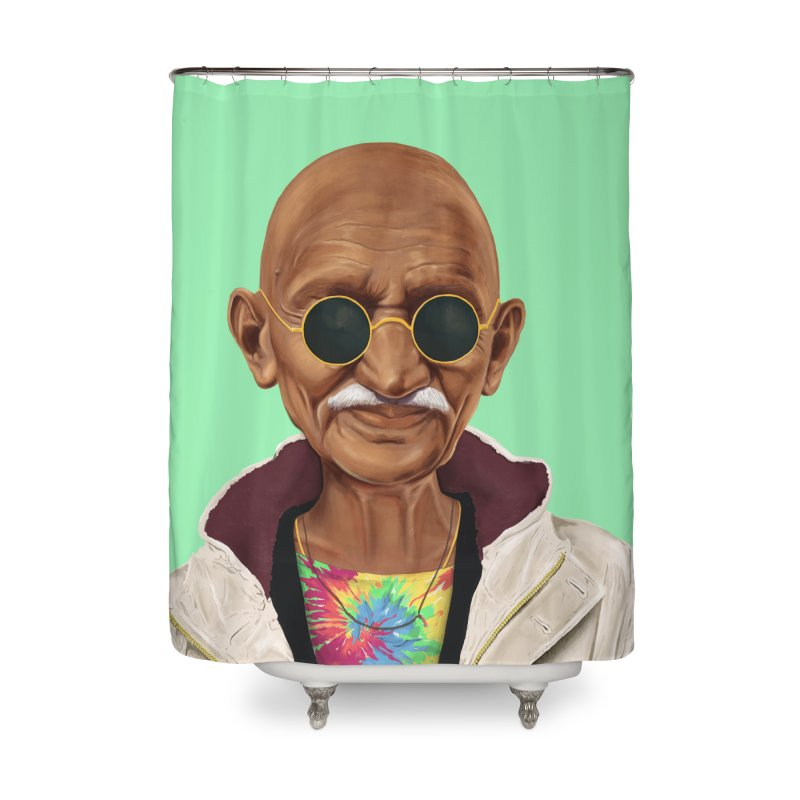 Mahatma Gandhi Home Shower Curtain by shimoni's Artist Shop