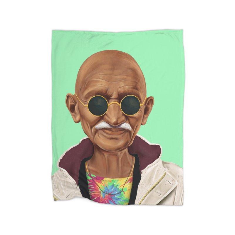 Mahatma Gandhi Home Blanket by shimoni's Artist Shop
