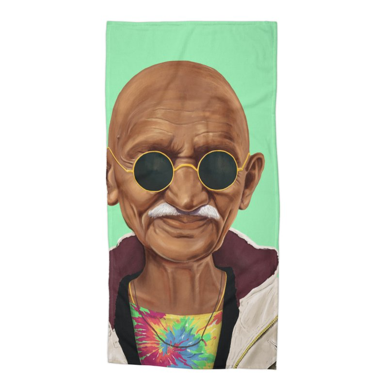 Mahatma Gandhi Accessories Beach Towel by shimoni's Artist Shop