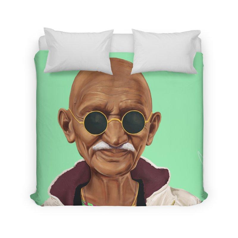 Mahatma Gandhi Home Duvet by shimoni's Artist Shop