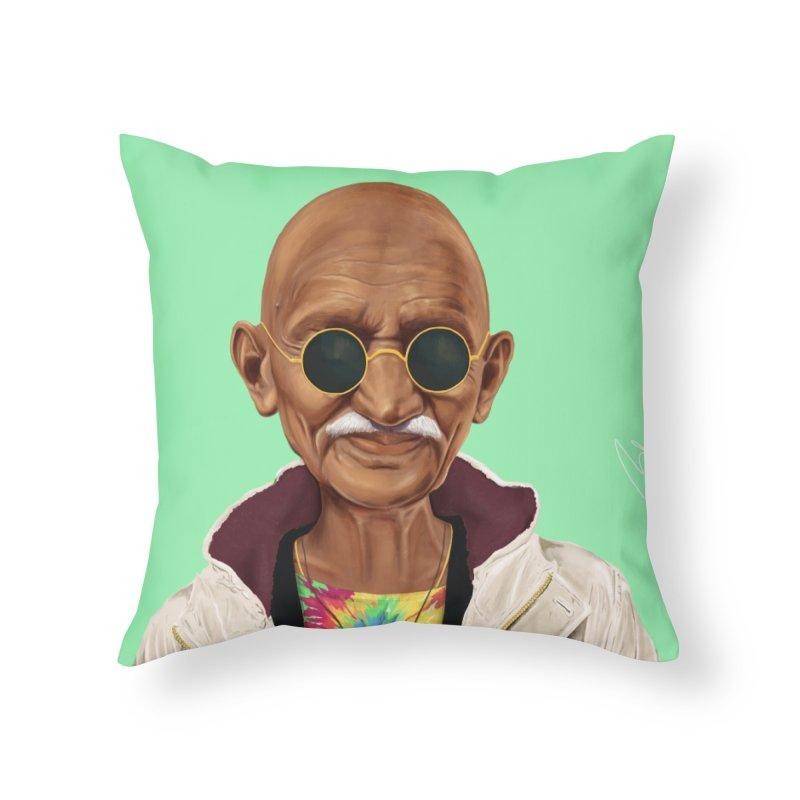 Mahatma Gandhi Home Throw Pillow by shimoni's Artist Shop