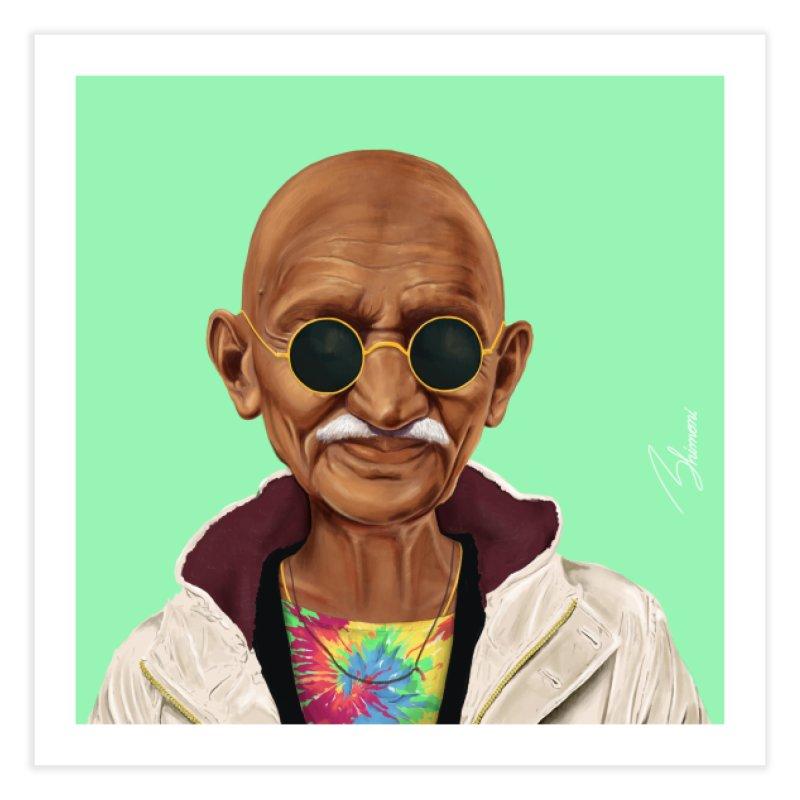 Mahatma Gandhi Home Fine Art Print by shimoni's Artist Shop