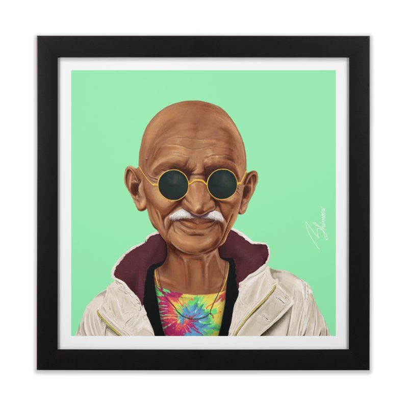 Mahatma Gandhi Home Framed Fine Art Print by shimoni's Artist Shop