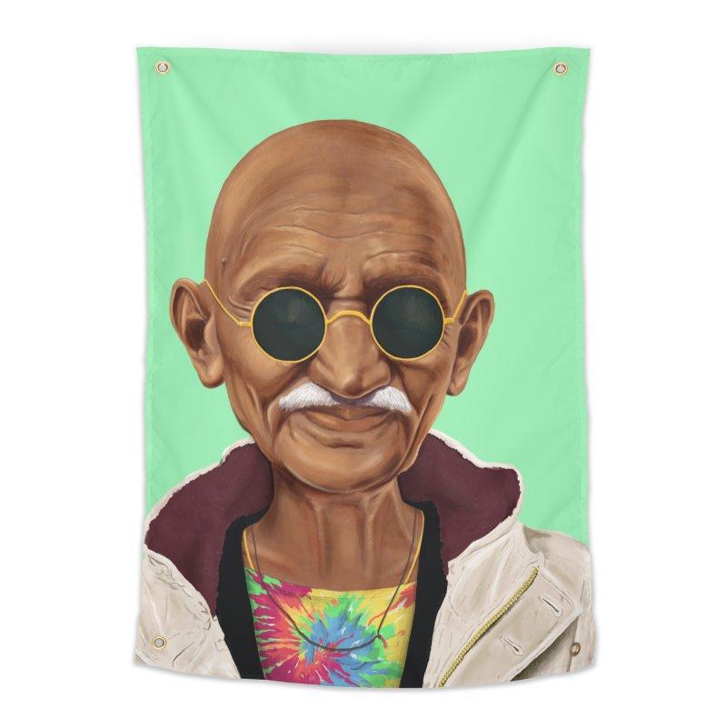 Mahatma Gandhi Home Tapestry by shimoni's Artist Shop