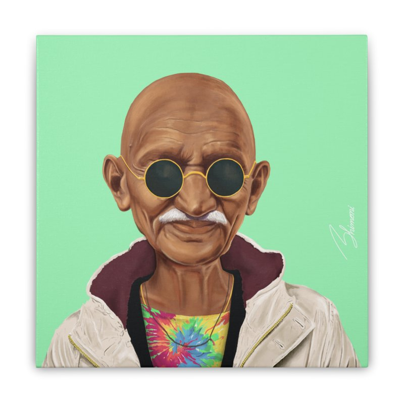 Mahatma Gandhi Home Stretched Canvas by shimoni's Artist Shop