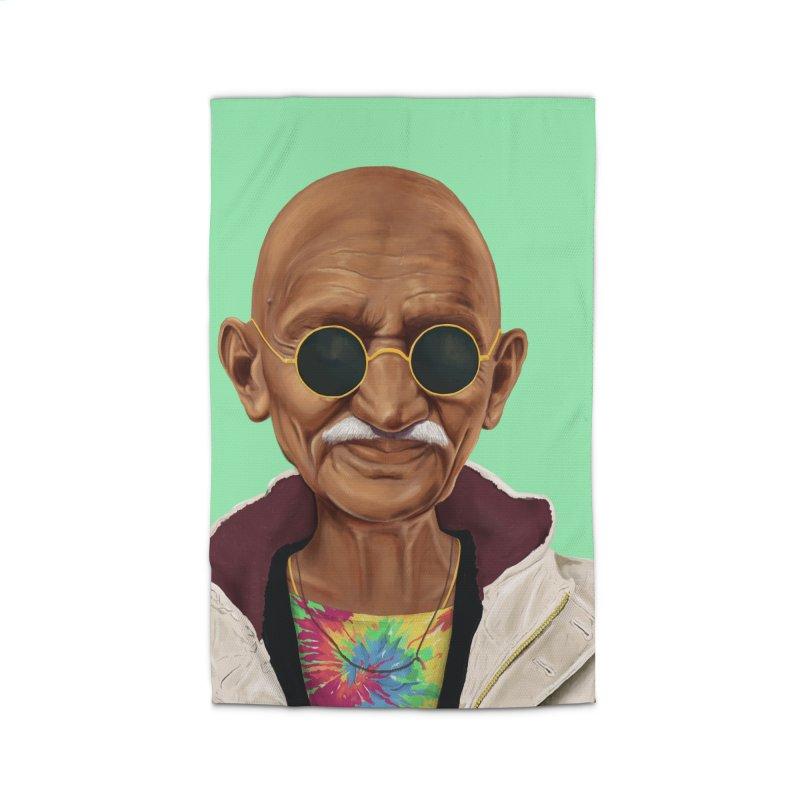 Mahatma Gandhi Home Rug by shimoni's Artist Shop