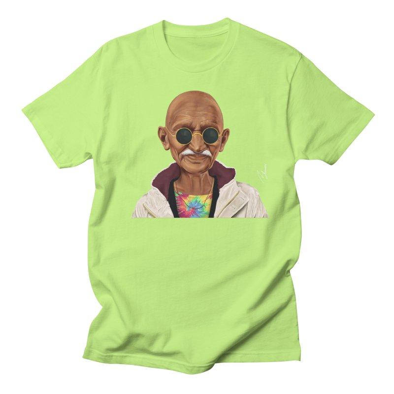 Mahatma Gandhi Men's T-shirt by shimoni's Artist Shop