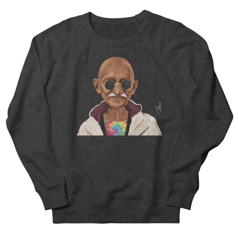 Mahatma Gandhi Men's Sweatshirt by shimoni's Artist Shop
