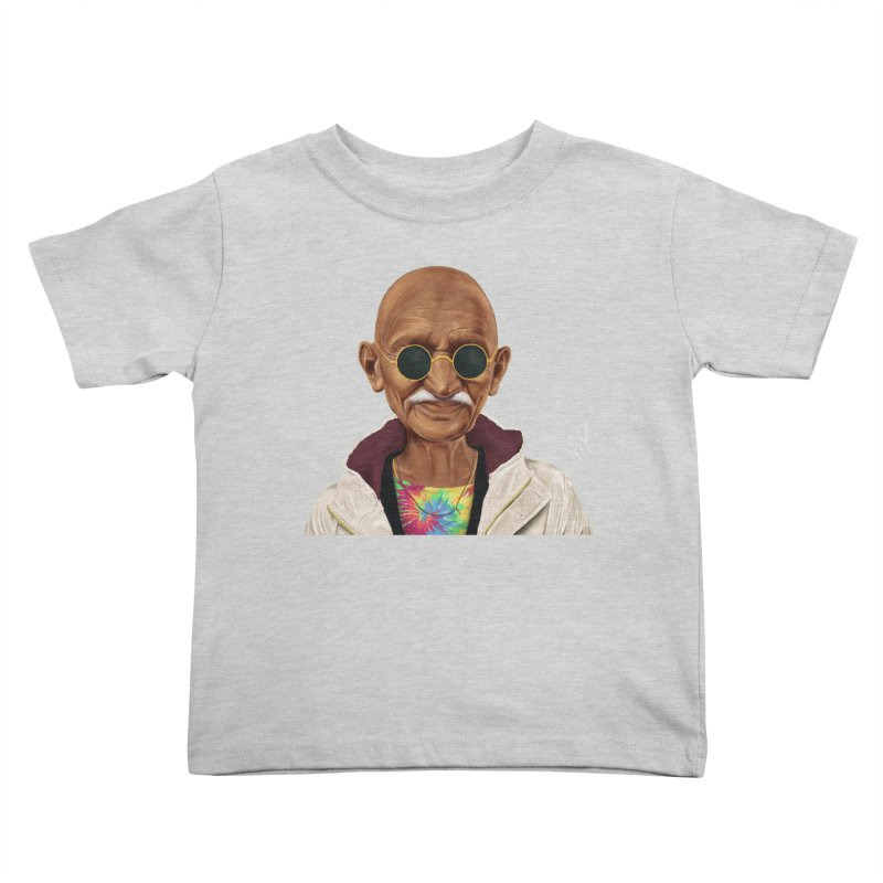 Mahatma Gandhi Kids Toddler T-Shirt by shimoni's Artist Shop