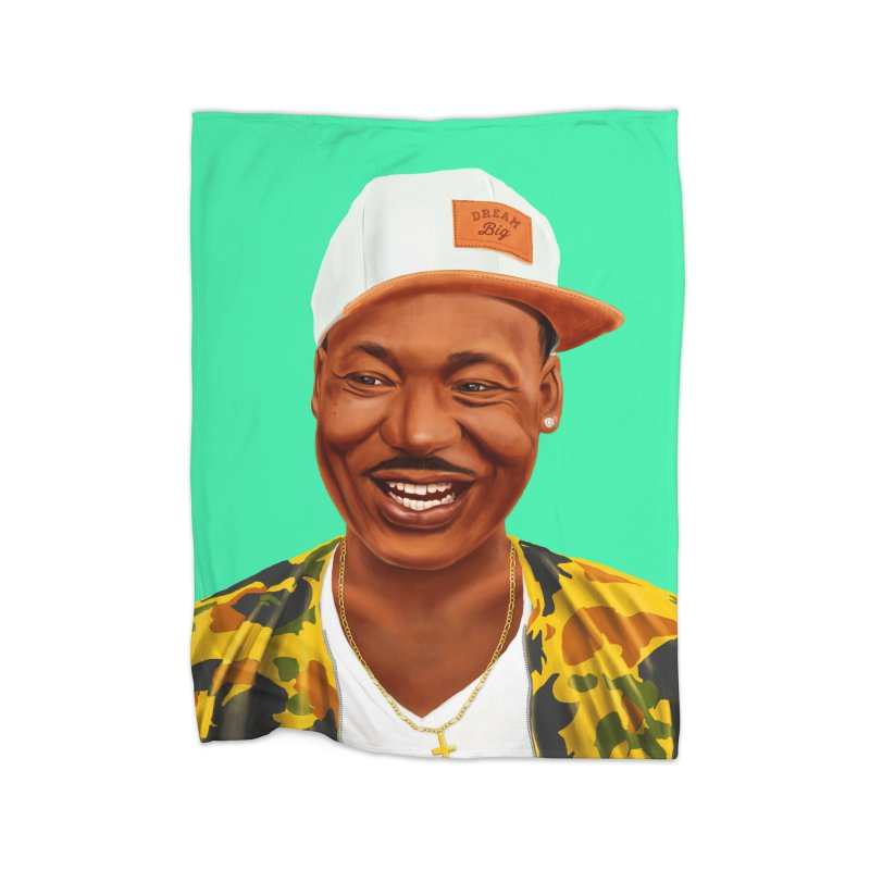 Martin Luther King Home Blanket by shimoni's Artist Shop