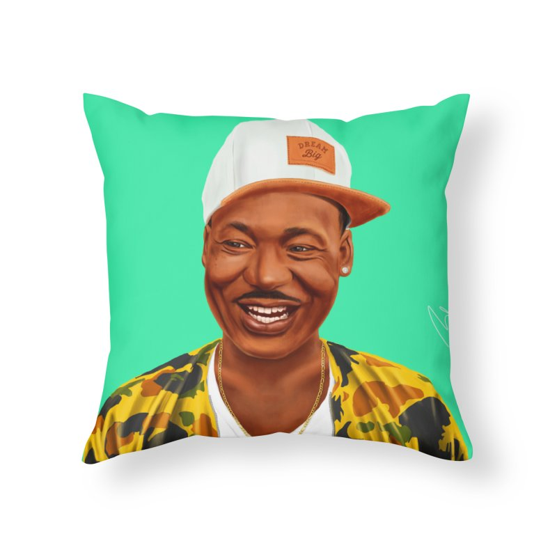 Martin Luther King Home Throw Pillow by shimoni's Artist Shop
