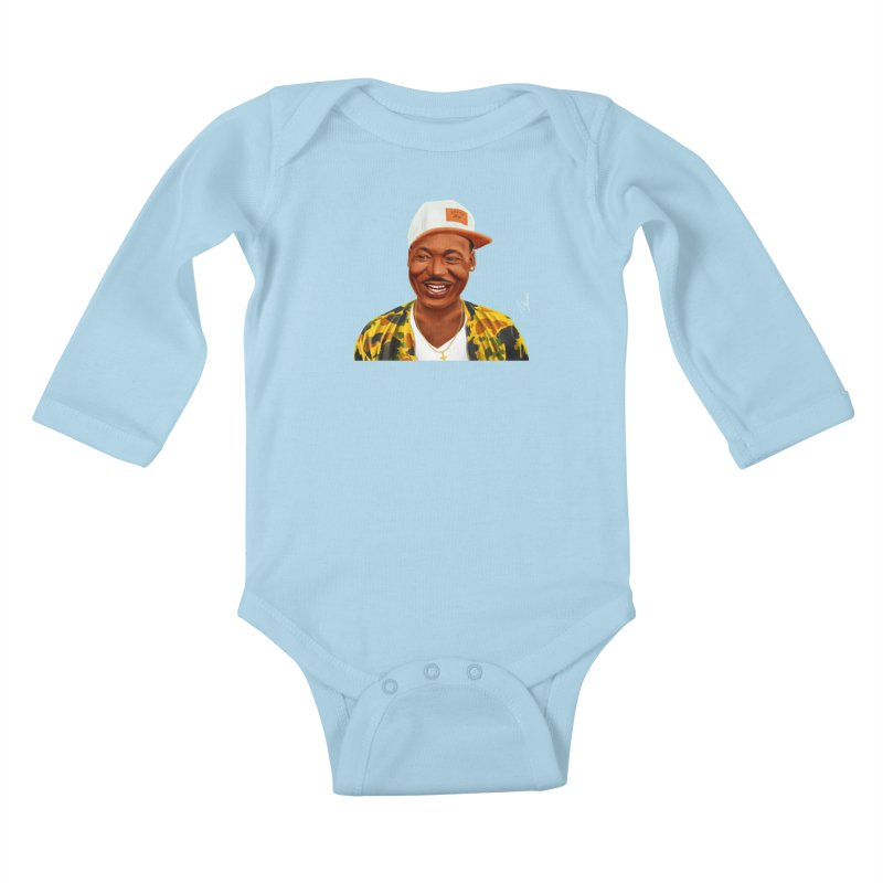 Martin Luther King Kids Baby Longsleeve Bodysuit by shimoni's Artist Shop