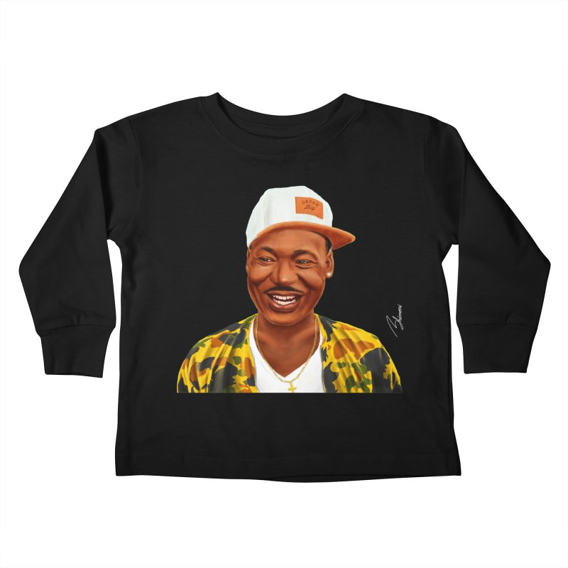 Martin Luther King Kids Toddler Longsleeve T-Shirt by shimoni's Artist Shop