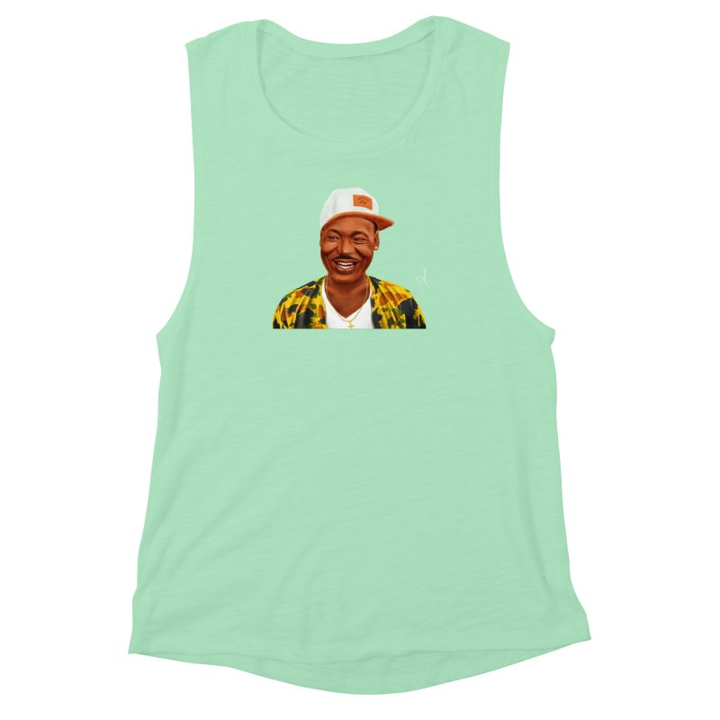 Martin Luther King Women's Muscle Tank by shimoni's Artist Shop