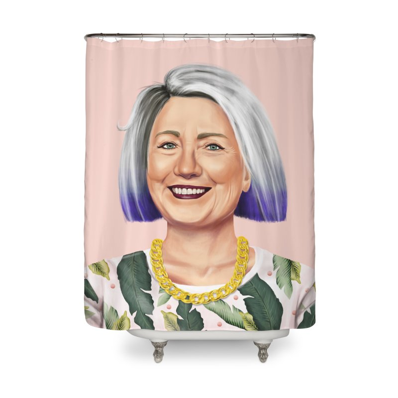 Hillary Clinton Home Shower Curtain by shimoni's Artist Shop