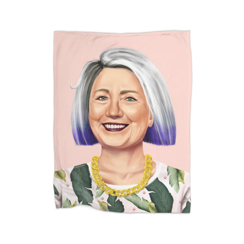Hillary Clinton Home Blanket by shimoni's Artist Shop
