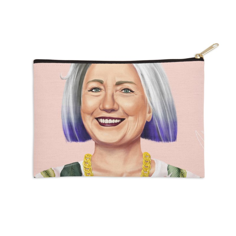 Hillary Clinton Accessories Zip Pouch by shimoni's Artist Shop