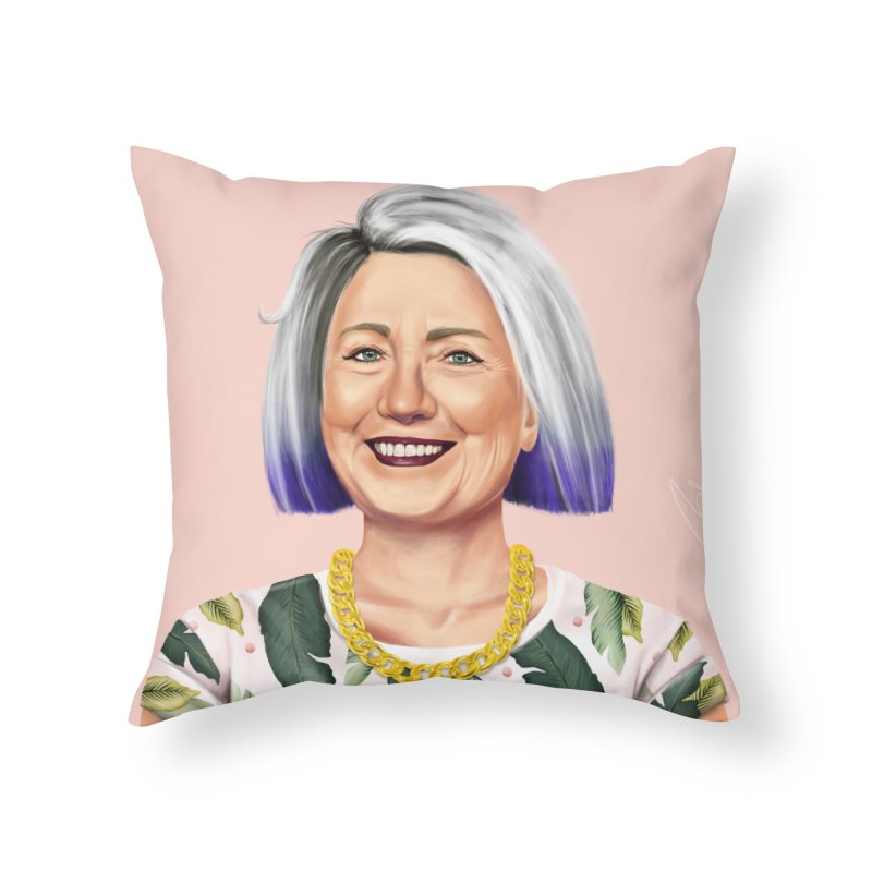 Hillary Clinton Home Throw Pillow by shimoni's Artist Shop