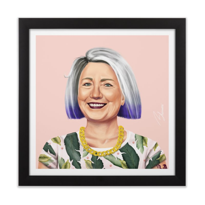 Hillary Clinton Home Framed Fine Art Print by shimoni's Artist Shop