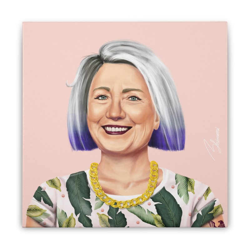 Hillary Clinton Home Stretched Canvas by shimoni's Artist Shop