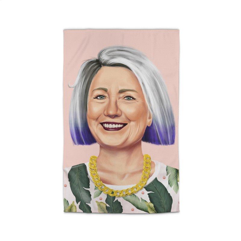 Hillary Clinton Home Rug by shimoni's Artist Shop