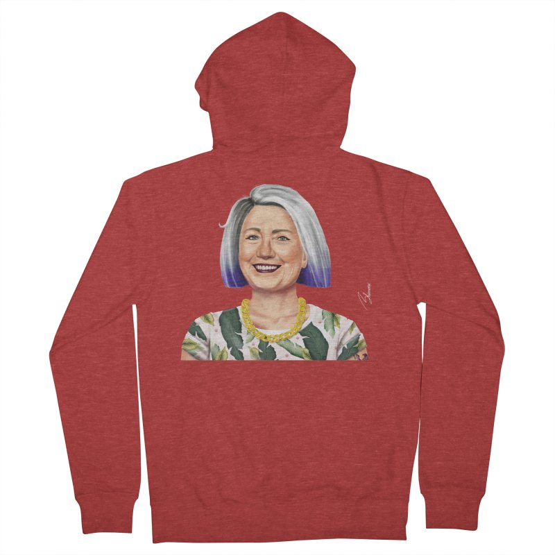 Hillary Clinton Men's Zip-Up Hoody by shimoni's Artist Shop