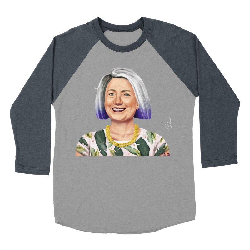 Hillary Clinton Men's Baseball Triblend T-Shirt by shimoni's Artist Shop