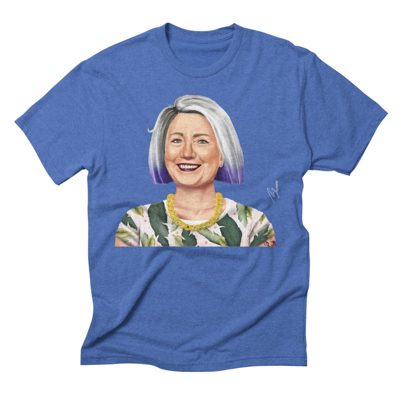 Hillary Clinton Men's Triblend T-shirt by shimoni's Artist Shop