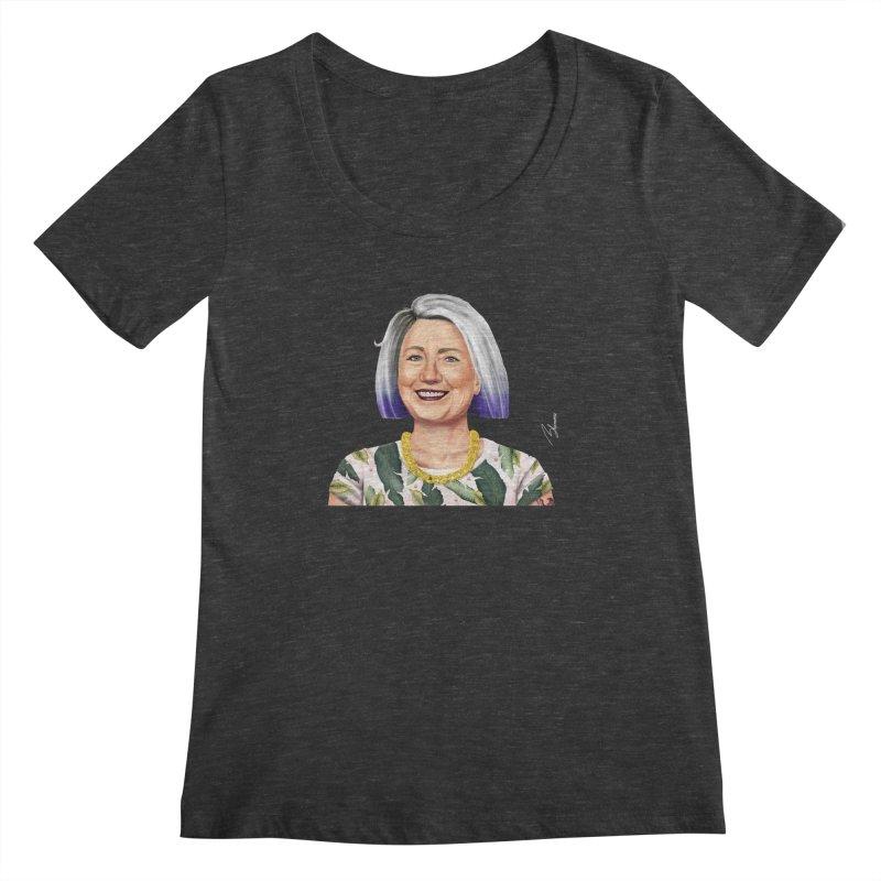 Hillary Clinton Women's Scoopneck by shimoni's Artist Shop