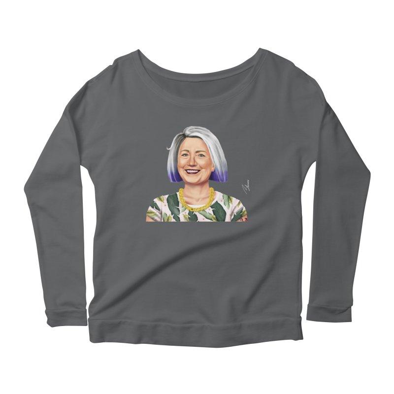 Hillary Clinton Women's Longsleeve Scoopneck  by shimoni's Artist Shop