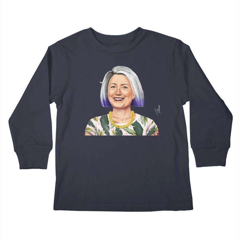 Hillary Clinton Kids Longsleeve T-Shirt by shimoni's Artist Shop