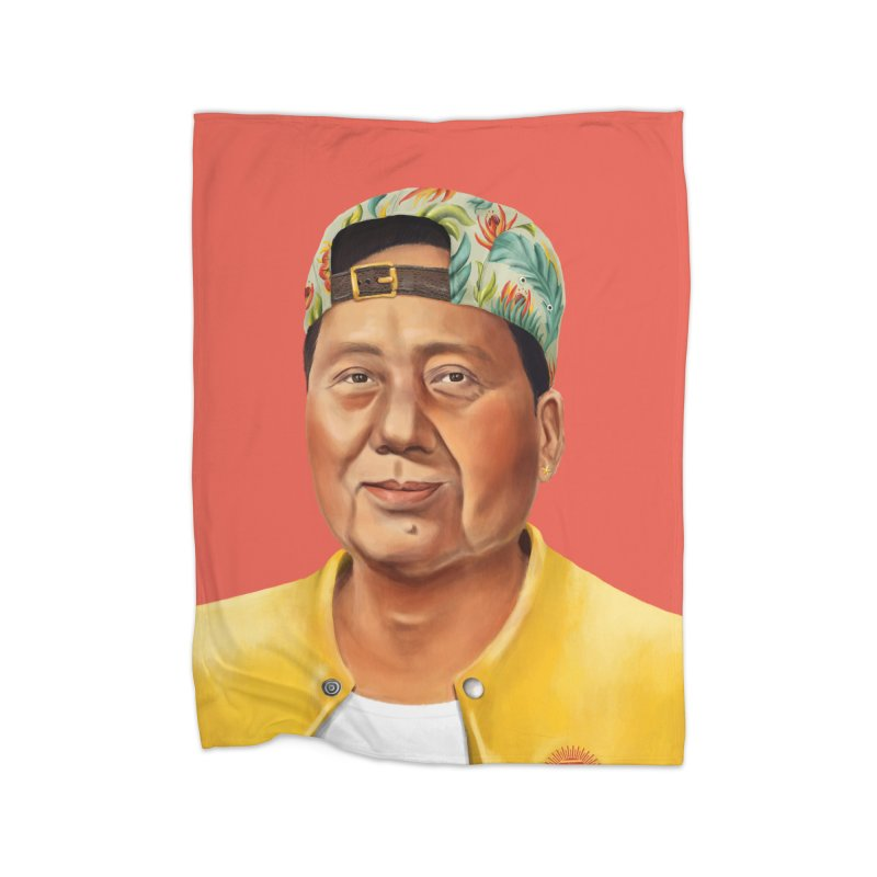 Mao Zedong Home Blanket by shimoni's Artist Shop