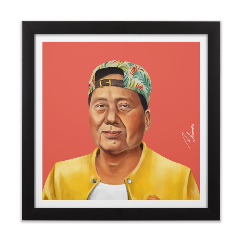 Mao Zedong Home Framed Fine Art Print by shimoni's Artist Shop