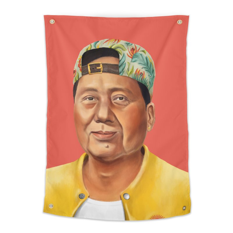 Mao Zedong Home Tapestry by shimoni's Artist Shop