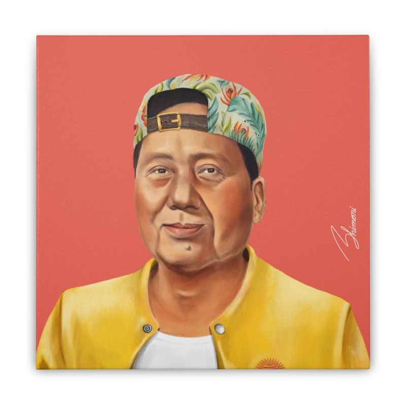 Mao Zedong Home Stretched Canvas by shimoni's Artist Shop