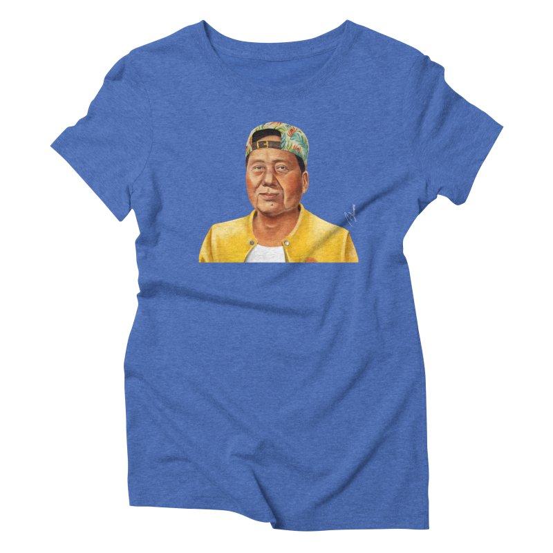 Mao Zedong Women's Triblend T-shirt by shimoni's Artist Shop