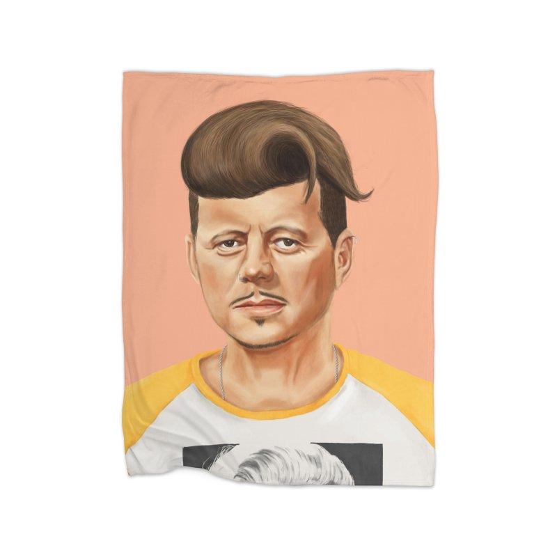 John F. Kennedy Home Blanket by shimoni's Artist Shop