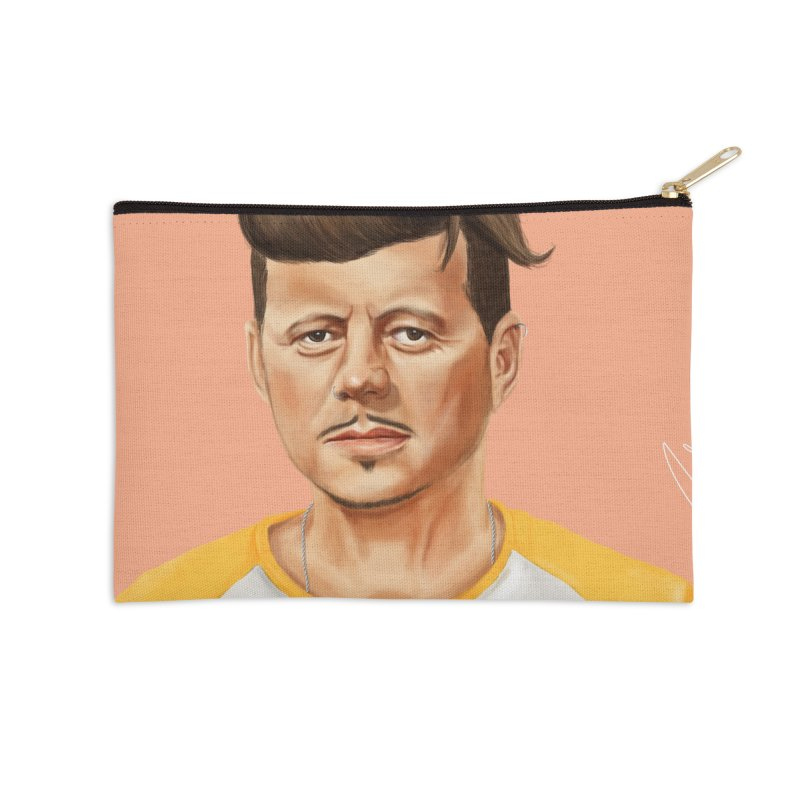 John F. Kennedy Accessories Zip Pouch by shimoni's Artist Shop