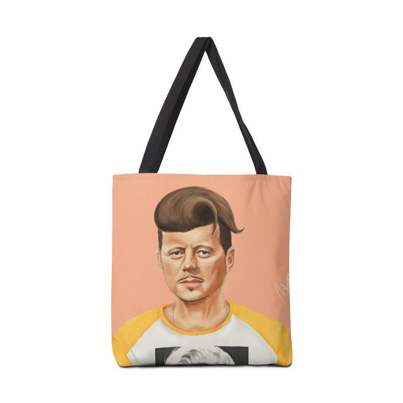 John F. Kennedy Accessories Bag by shimoni's Artist Shop